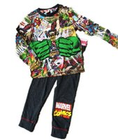 Wholesale Marvel T Shirts Wholesale - New Autumn Spring Kids Pajamas Boys Marvel Avengers Pajamas 2 Pcs Set Long Sleeve T-shirt+Pants 2 pieces Kids Cotton Sleepwear