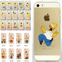 Wholesale Iphone Case Star Minion - 2016 Cartoon Christmas minion Simpson Frozen star wars Snow White Spiderman Mermaid soft TPU Cases cover for iphone SE 4 4S 5 5S 6 6S plus
