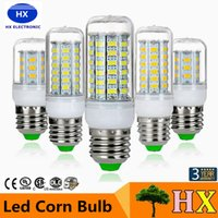 Wholesale E14 Lead - SMD5730 E27 GU10 B22 E14 G9 LED lamp 7W 12W 15W 18W 220V 110V 360 angle SMD LED Bulb Led Corn light 24LED