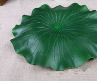 Wholesale Pool Leaf - Popular New Novelty Green Artificial Lotus Flower Leaf For pool Home Pond Fish Tank Lotus Leaves Leaf Decor Party garden Decorations