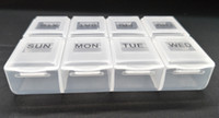 Wholesale Food Tablets - 2017 New Health Care Medicine Pill Box rectangle Sort Vitamin 8 Day Weekly Holder Tablet Storage Case Container Cases Travel promotion