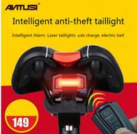 Wholesale Intelligent Bike Laser - 2016 New Passers-Shi Intelligent Burglar Alarm Mountain Bike Taillight USB Charging LED Laser Strobe Warning Lights
