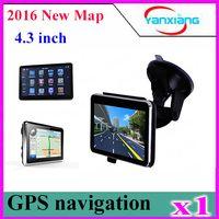 Wholesale Gps Navitel - 1pcs car gps navigator 4.3 Inch GPS NAVIGATOR 128M 4GB igo navitel map FM mp3 mp4 ZY-DH-01