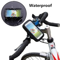 Universal Waterproof Rotatable Bicycle Bike Handlebar Mount Holder Bracket Housse pour Samsung S6 S7 Edge iPhone 6 6S Plus HTC Sony Huawei