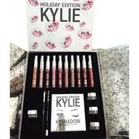 Wholesale Eye Shadow Palette Bag - Kylie Holiday Edition Gift Box Kylie Jenner Cosmetics Collection Set Liquid Lipstick Lip Gloss Kylie Kyshadow Eye Shadow Palette Gift Bag