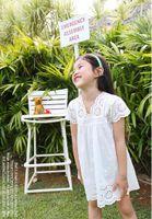 Wholesale Korean Clothes Sizing For Kids - 2016 summer new arrival girl cotton lace dress for kids children clothes white lace princess korean cute dress size 100-140