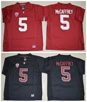 Wholesale Mens Black Sleeveless - 5 Christian McCaffrey Jersey 2016 New Mens Season Stanford Cardinal Jerseys High Red Black Stitched College Football Jerseys Size M-XXXL