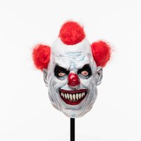 Wholesale creepy clown halloween costumes for sale - Group buy Halloween Joker Clown Costume Mask Creepy Evil Scary Halloween Clown Mask Adult Ghost Festive Party Mask Supplies Decoration
