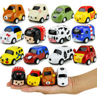 Wholesale Cartoon Pull Back Car - New cartoon children toy car warrior alloy models Mini Q iron Diecast Model Cars Figure size