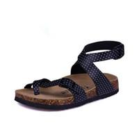 sandalias de corcho al por mayor-Al por mayor- Diseñador de moda Sandalias de corcho 2016 Nuevas mujeres Casual Verano Playa Hombres Gladiador Hebilla Correa Sandalias Zapato Envío gratis