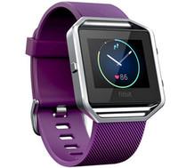 en yeni akıllı saat toptan satış-Toptan-L boyutu Yeni gelen üretici Fitbit Blaze Tracker için Yumuşak Silikon Bilek döngü Kayışı Akıllı Watch Band