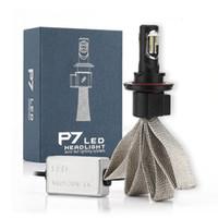 Wholesale H13 White - (2pcs lot)Plug&Play CREE LED 6000K White Bulb P7 H13 60W 9600LM IP68 DRL Fog Headlight Lamp Kit