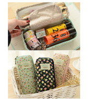 Wholesale pen box design for sale - Group buy New Design Stationery Large Capacity Floral Pencil Case Pen Storage Box School Office Supplies Cute Cosmetic Bag Papelaria For Girls
