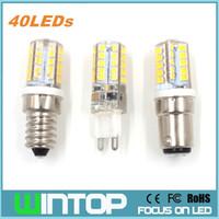 Wholesale 5w B15 Led Bulbs - New Mini E14 B15 G9 LED Bulb Lamp 220v 5W 40Pcs Led SMD2835 Silicone Body Light Replace Halogen Lamp Chandelier Pendant Lights