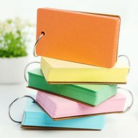 Wholesale Mini Notebook Color - 4pcs lot Color Pages Mini Memo Pad Notebook Gift Stationery School Office Home Supplies Portable Notepad Free Shipping Prize