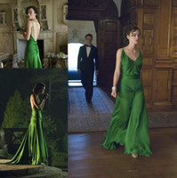 Wholesale dresse women - Sexy Keira Knightley Atonement Evening Dresses Chiffon Backless Floor Length Long Special Occasion Women Dresse Celebrity Party Gown