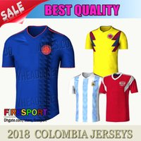 1b97eab5ed5 Top THailand Quality COLOMBIA 2018 WORLD CUP HOME KIT 18 19 COLOMBIA  National Team Home Away Soccer Jersey FALCAO JAMES Football Shirts ...