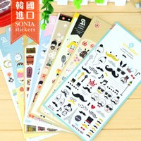 Wholesale Diary Book Case - Wholesale-5pcs Lot Korea Book Deco Scrapbooking Stickers Decorative Sticker Pack DIY Diary Photo Decos Album Party Phone case Decals