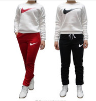 Wholesale Casual Pants Slim Sport Leisure - 2016 Brand Tracksuit Women Sport Suit Hoodie Sweatshirt+pant Jogging Sportswear Leisure Two-piece Size S-xl Moletom Tracksuit