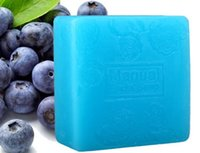 Wholesale Essences For Soaps - Blueberry essence oil cleaning face soap revitalizing moisturizing mild skin-friendly brightens complexion anti wrinkle clean face-bathcombo