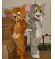 Wholesale Tom Jerry Halloween Costumes - Jerry Mouse&Tom Cat Cartoon Mascot Costume Clothing Halloween Reality Mouse&Tom anime Christmas Party