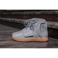 Wholesale Wholesale Men Cowboy Boots - 2017 Newest 750 BoostGRILEG GRILEG GOMME3 Kanye West LGIGRE GUM3 Boots 2017 Fashion Men Outdoor Casual Boost Sneakers 750 Boosts