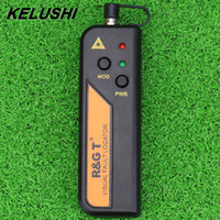 Wholesale KELUSHI mw Fiber Optic Visual Fault Locator for mm connecter SC FC ST Mini RGT Red Laser Tester Testing Tool for FTTH