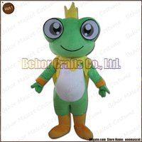 Wholesale Prince Mascot Costumes - Frog prince mascot costume free shipping, high quality cheap plush Frog prince mascot cartoon adult, accept OEM order.