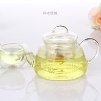 Wholesale Chinese Glass Teapots - hot sale free shipping Chinese gongfu glass teapot set blooming flower teapots with glass strainer wholesale