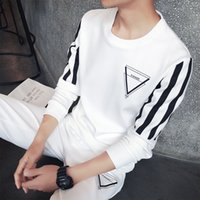 Wholesale Casual Sweat Suits For Men - New Tracksuits for Men Casual Spring Autumn Winter Letter Print T-shirts +Pant set Men's Sports Clothing Sets Sweat Suits