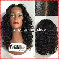 Wholesale Big Knot Tie - 150% density full lace wigs human hair for black women body wave virgin brazilian lace front wigs with baby hair and bleached knots