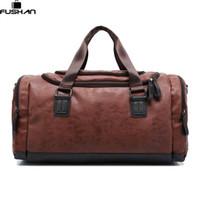 Wholesale Shoulder Strap Man Bags - Wholesale- New Genuine leather travel bag Men duffel bag large capacity bags with shoulder Strap shoulder bag leahter Handbag for Male