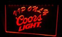 LS477-r Coors VIP Only Bar Beer Neon Light Sign
