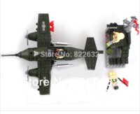 Wholesale Enlighten Blocks Toy Combat Zone - Enlighten Building Blocks Fighter Plane Combat Zones Educational Construction Bricks Hot Toy for Children Compatible Blocks Gift