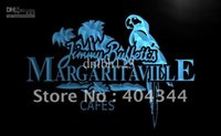 Entrar LE110-TM Jimmy Buffett Margaritaville Neon Light. Propaganda. painel liderado