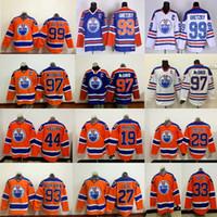 Wholesale New Jersey Hockey - Edmonton Oilers 97 Connor McDavid 99 Wayne Gretzky 44 Zack Kassian 27 Milan Lucic 29 Leon Draisaitl Jersey 2017-2018 New Hockey Jerseys