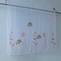 Wholesale In the new printing three dimensional fish wire netting sheer Curtains