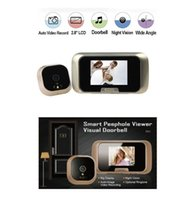 Wholesale Night Vision Spy Cameras Wireless - 2.8inch wireless peephole camera door eye 0.3 Megapixels camera IR night vision Photos+Video Anti-spy door peephole Max 32G