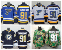 sports sewing - St Louis Blues Hockey Vladimir Tarasenko Jerseys For Sport Fans Team Color Navy Blue White Alternate Sewn On Embroidery
