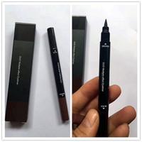 Wholesale 2in1 eyeliner - top DHL M liquid eyeliner Brown and Black 2in1 gel eyeliner Free Shipping High Quality