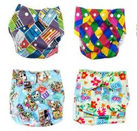 Wholesale Nappies Patterned - 47designs Diaper More Patterns Reusable Diaper Printing Diapers Nappy Cover For Baby Reusable Cloth Nappies Waterproof Diapers