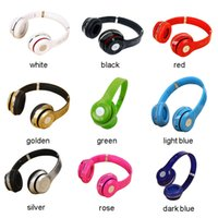 Wholesale Silver Blue Headbands - Bluetooth S460 Wireless Head-Mounted Earphones Stereo Bluetooth Headset Unisex Headphone With Microphone FM TF Card AUX
