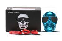 Wholesale Mp3 Skull Music - 5pcs lot Super Cool Skull Head Sunglass NFC Function Bluetooth Wireless Mini Speaker Portable Super Bass Stereo HIFI Music Player