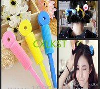 DIY Haar Roller Schwamm Bendable Lockenwickler Natürliche Welle Spiral Stick Haar Self Lock Grip Tie Donut?