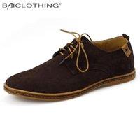 Wholesale Discount Men Shoes Wholesale - Wholesale- Discounts Men Shoes 2016 Spring Autumn Fashion Synthetic Leather Casual Shoes Soft Comfortable Flat Shoes Plus Size 38-48