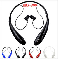 Wholesale Ear Phone For Iphone 4s - HBS-800 Bluetooth Headset Wireless Earphone Bluetooth Headphone Ear Buds Head Phone Set for iPhone 6 5S 4S Samsung Xiaomi Earbud