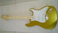 Mejor Custom Shop guitarra 50 Aniversario 56 Strat Relic Azteca Oro V suave Maple Neck OEM Disponible Baratos