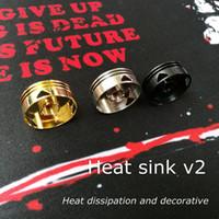 ringisolator großhandel-Kühlkörper v2.0 update wärmeisolator kühlkörper wärmeableitung dekorative schutz schönheit ring neueste 510 adapter stecker 3 farben für vape rda