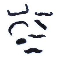Divertente Halloween Cosplay Props Fata Mustache Vestito Man Gentleman Chaplin Classic Balck Mustache 7Pcs Accessori Halloween Multi Patterns