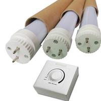dimmer dimmer lâmpada led dimmable venda por atacado-2ft 3ft 4ft 5ft regulável t8 levou tubo de controle de luz dim integrado T8 LED lâmpada de luz 4ft 18W luzes led
